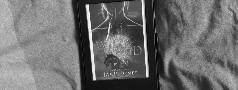 The Kindle verison of Wildwood's cover in black and white