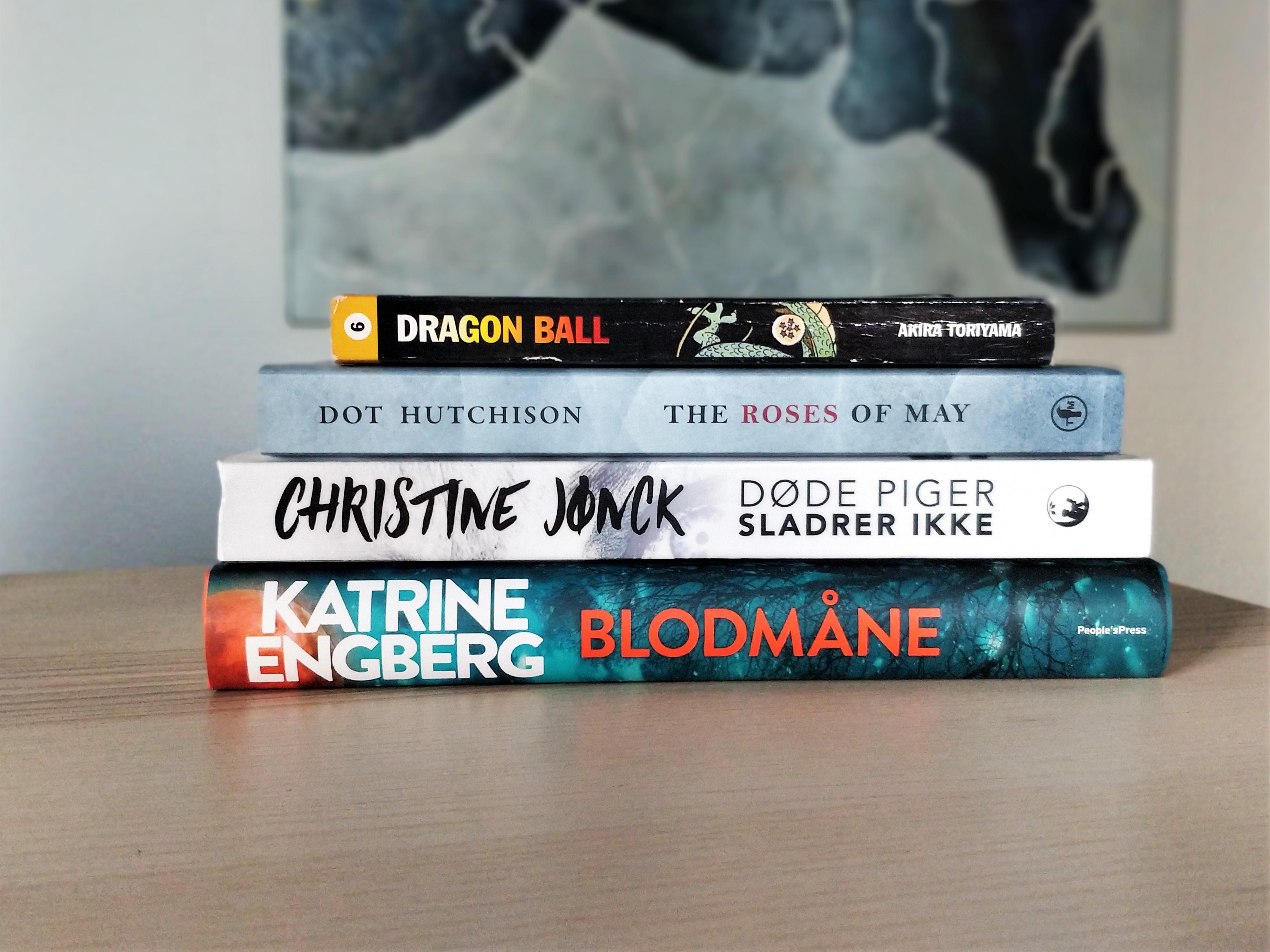 En bogstk med de bøger, jeg forventer at læse i januar.