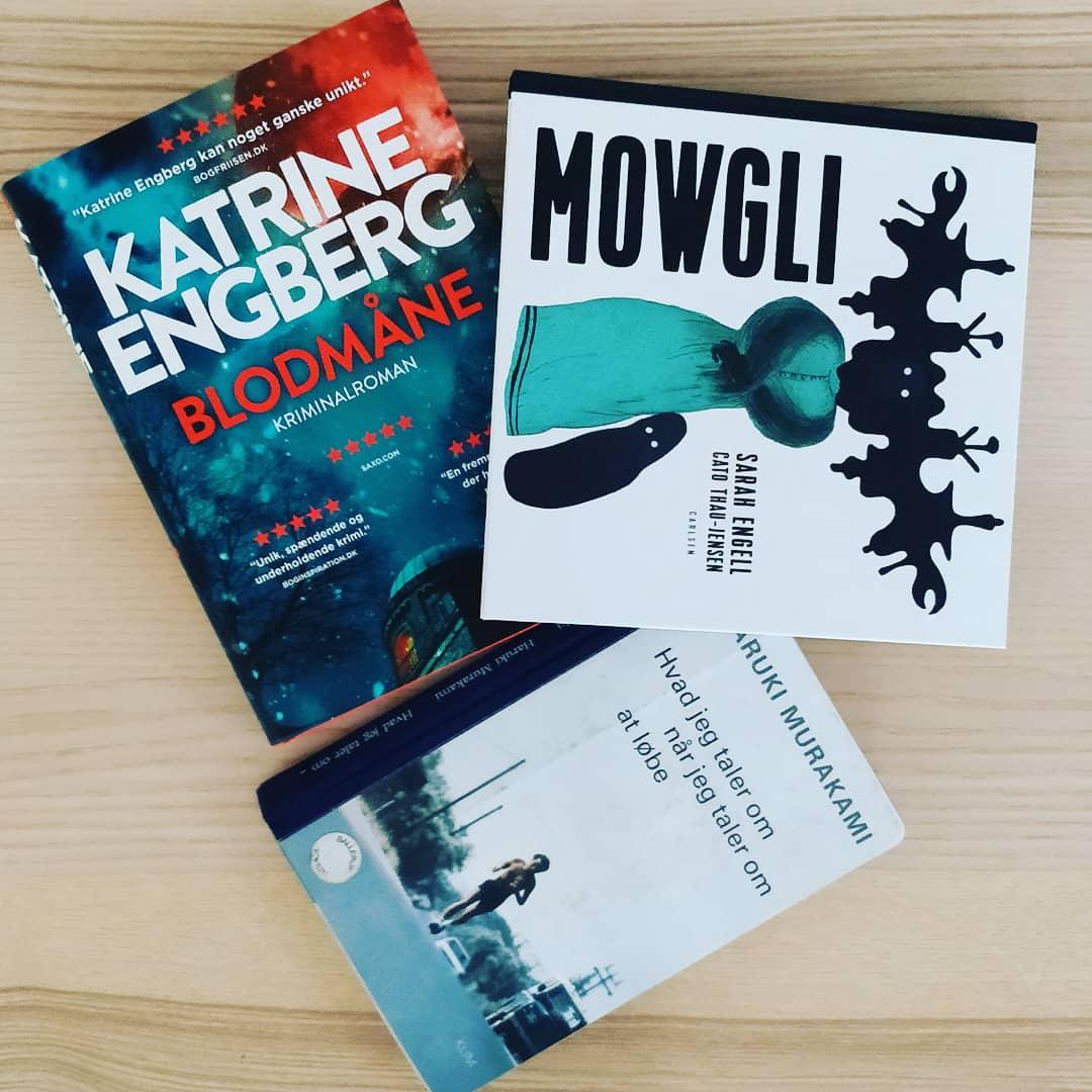 Jeg skal læse Blodmåne, Mowgli, Hidden Bodies og Hvad jeg taler om når jeg taler om at løbe i påsken
