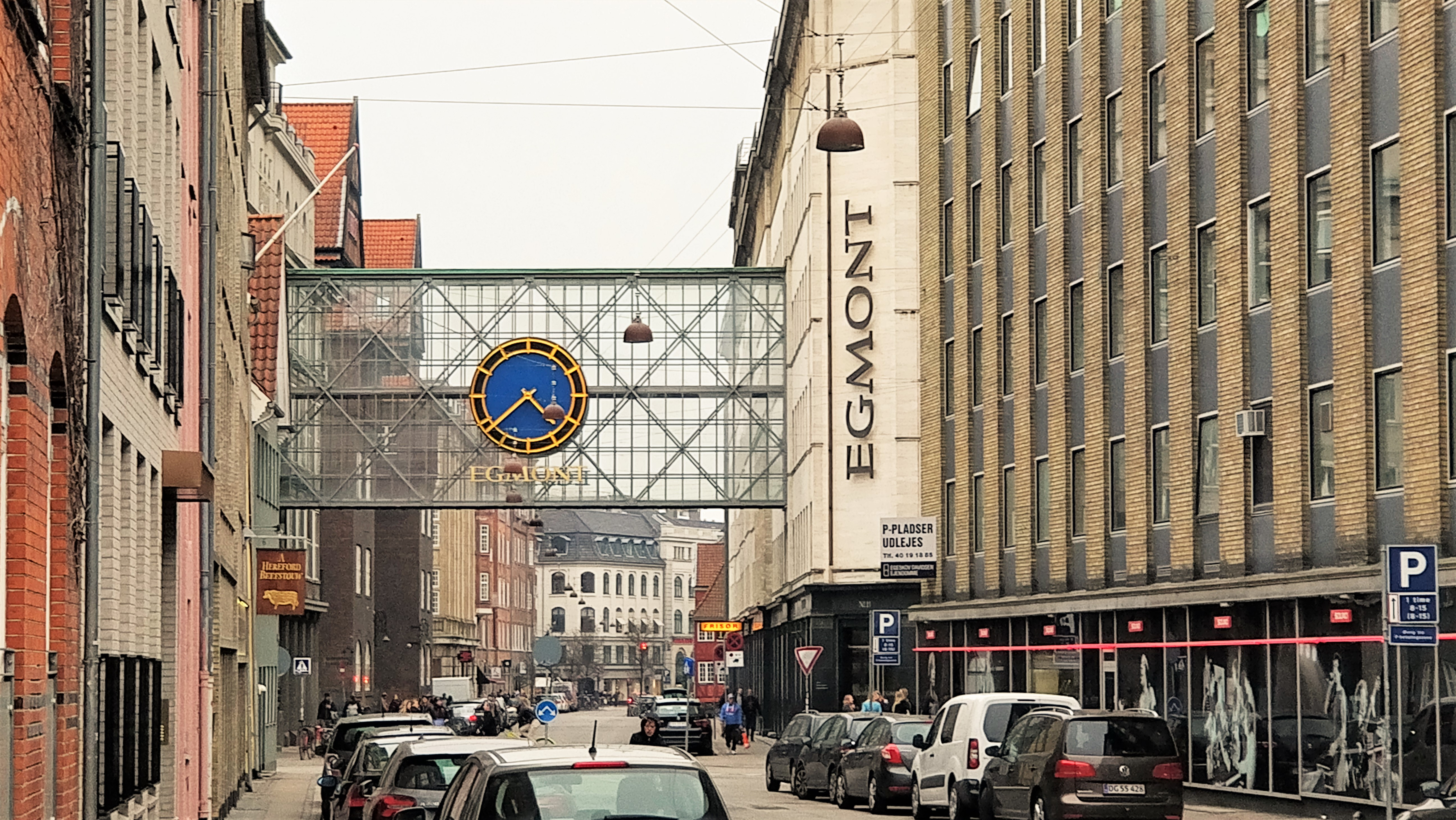 A picture of the Egmont building where the publishing house Carlsen is located